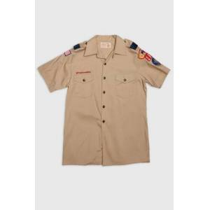 Vintage by Stayhard Skjorta Scout S/S Shirt Brun