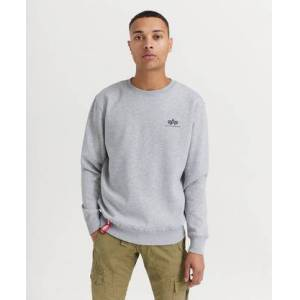 Alpha Industries Basic Sweater Small Logo Grå