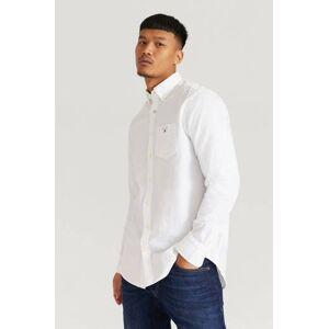Gant Skjorta The Oxford Shirt Reg BD Vit