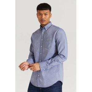Gant Skjorta The Oxford Shirt Reg BD Blå