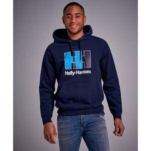 Helly Hansen HH Heritage Logo Hoodie Oatmeal Melange Blå