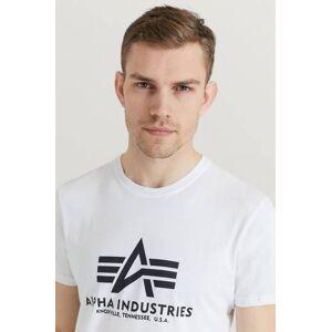 Alpha Industries T-Shirt Basic T-shirt Vit
