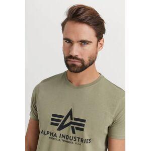 Alpha Industries T-Shirt Basic T-Shirt Grön  Male Grön