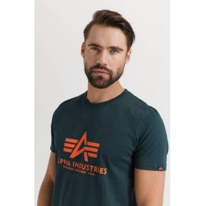 Alpha Industries T-Shirt Basic T-Shirt Grön