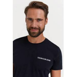 Calvin Klein Jeans T-Shirt Chest Institutional Slim Ss Tee Svart