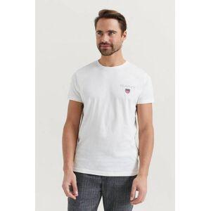 Gant T-Shirt Medium Shield SS T-shirt Vit