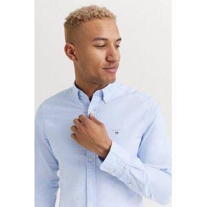Gant SKJORTA The Oxford Shirt Slim BD Blå