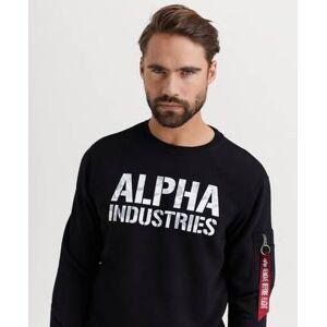 Alpha Industries SWEATSHIRT Camo Print Sweat Svart