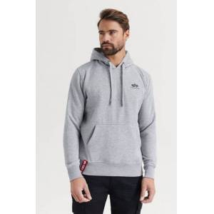 Alpha Industries HOODIE Basic Hoody Small Logo Grå