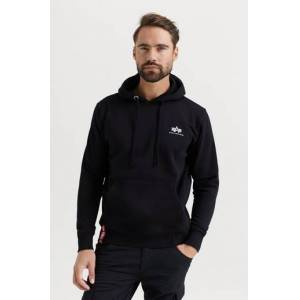 Alpha Industries Hoodie Basic Hoody Small Logo Svart