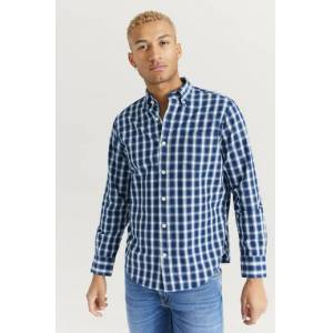 Gant Skjorta D1. Indigo Check Hugger BD Blå