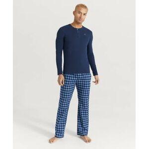 Gant Pyjamas PJ-set Flannel Pants Henley Gift B Blå