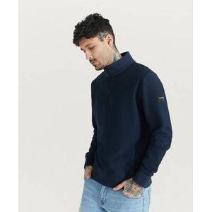Calvin Klein Ziptröja Tonal Reverse Half Zip Mock Neck Blå