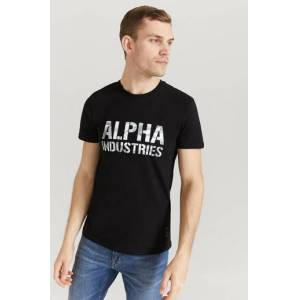 Alpha Industries T-Shirt Camo Print T Svart