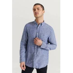 Gant Skjorta The Linen Shirt Reg BD Blå