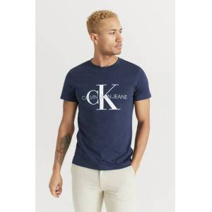 Calvin Klein Jeans T-Shirt Iconic Monogram Ss Slim Tee Blå