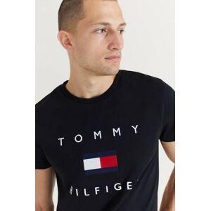 Tommy Hilfiger T-Shirt Tommy Flag Hilfiger Tee Svart