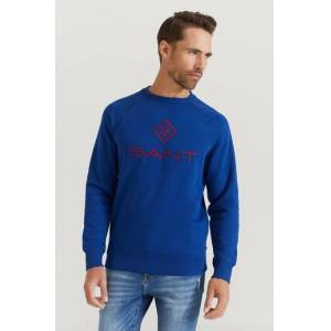 Gant Sweatshirt D1. Color Lock Up C-neck Blå