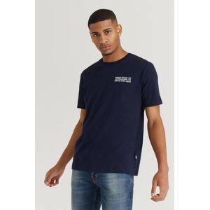 Wood Wood T-Shirt Info T-Shirt Blå