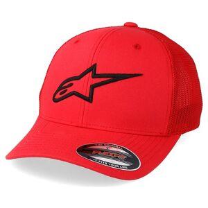 Alpinestars Keps Ageless Stretch Mesh Red/Black Flexfit - Alpinestars - Röd Flexfit