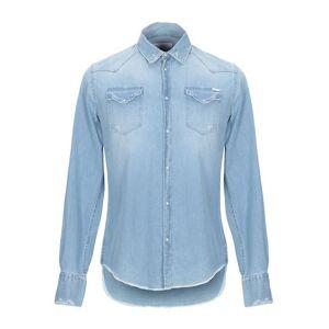AGLINI Denim shirt Man