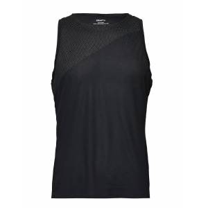 Craft Nanoweight Singlet M T-shirts Sleeveless Svart Craft