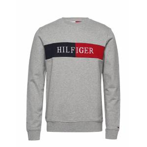 Tommy Hilfiger Hilfiger Intarsia Sweatshirt Sweat-shirt Tröja Grå Tommy Hilfiger