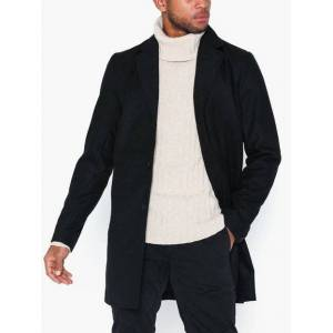 Solid Fayette Faux Wool Jacket Jackor Svart