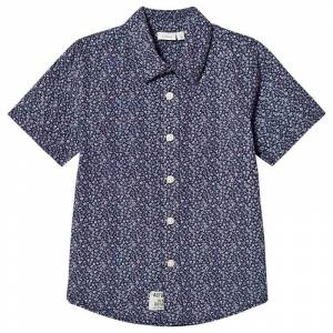 Name It Skjorta, Klower, Dress Blues 110 cm