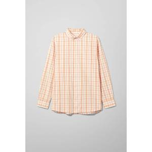 Karim Checked Shirt - Orange
