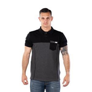 iXS Team Polo T-Shirt Svart-Grå
