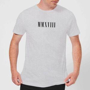 Zavvi Clothing MMXVIII T-Shirt - Grey - XXL - Grey