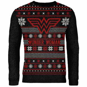 DCShoe Zavvi Exclusive Wonder Woman Knitted Christmas Jumper - Black - S - Black