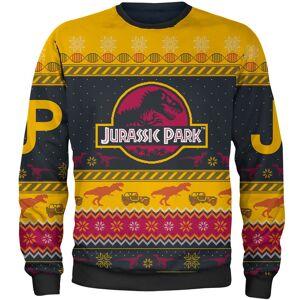 Own Brand Zavvi Exclusive Jurassic Park Xmas Knitted Jumper - Yellow - XXL