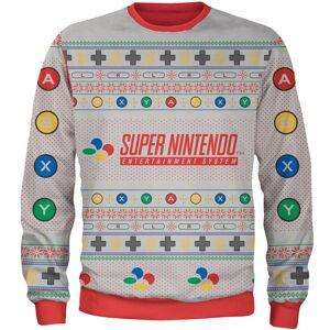 Own Brand Zavvi Exclusive Nintendo SNES Xmas Knitted Jumper - Grey - XXL