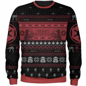Own Brand Zavvi Exclusive Star Wars Merry Sithmas Xmas Knitted Jumper - Black - L