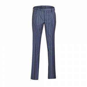 Brian Dales Pinstripe Pants With 1 Pence