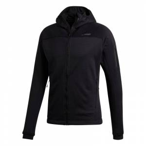 Adidas Men's Stockhorn Hooded Fleece Jacket Svart