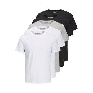 Tee JACK & JONES Ss Tee Enkel Rundringad 5-pack Ka T-shirt Man White