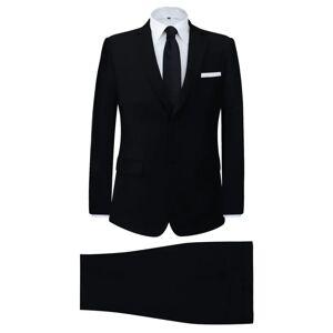 vidaXL Tvådelad kostym herrar svart strl. 48