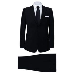 vidaXL Tvådelad kostym herrar svart strl. 54