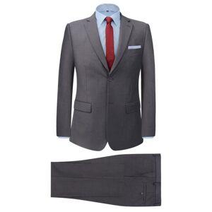 vidaXL Tvådelad kostym herrar grå strl. 54