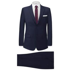vidaXL Tvådelad kostym Herr strl 56 marinblå