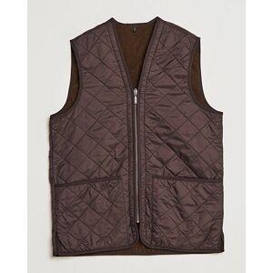 Barbour Lifestyle Quilt Waistcoat/Zip-In Liner Brown