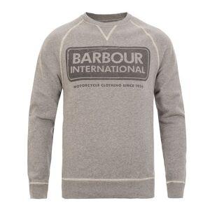 Barbour International Logo Sweat Grey Marl
