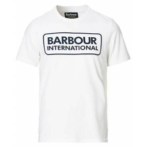 Barbour International Large Logo Crew Neck Tee White