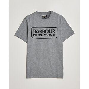 Barbour International Large Logo Crew Neck Tee Antracite Grey