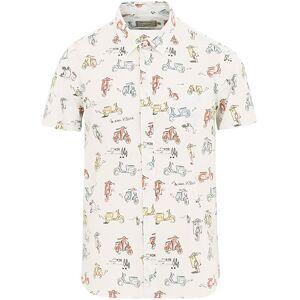 Maison Kitsuné All Over Scooter Short Sleeve Shirt Multi Print