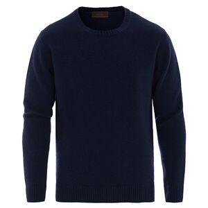 Altea Virgin Wool Crew Neck Sweater Navy