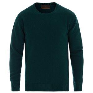 Altea Virgin Wool Crew Neck Sweater Dark Green